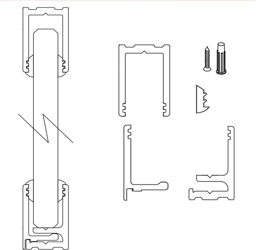 Grupo 4 perfiles aluminio inox instalaciones de vidrios for Herrajes para mamparas de vidrio