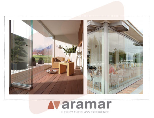 Glass terrace enclosures, available in Aramar.